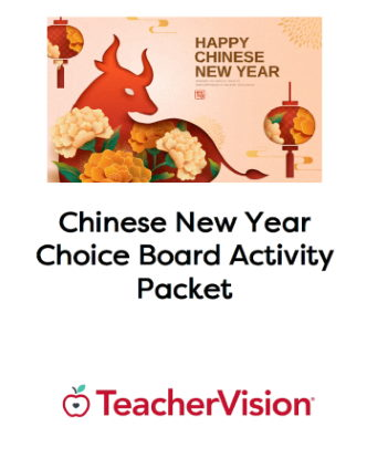 Chinese New Year Choice Board Activity Packet