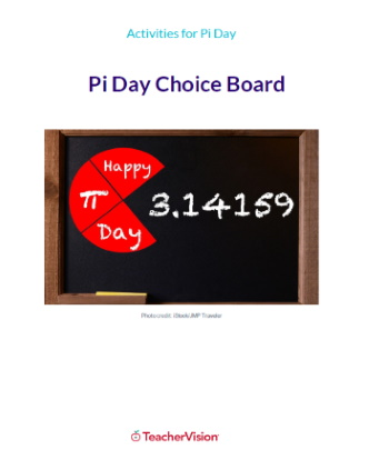 Pi Day Activities Choice Board