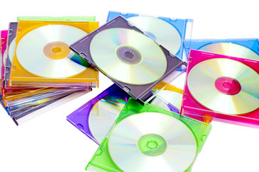 CDs in Colorful Cases
