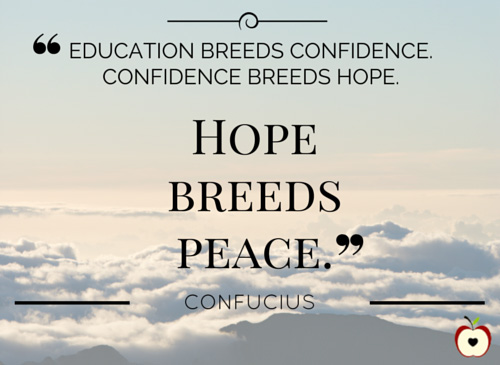 Education breeds confidence