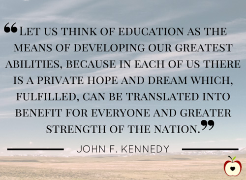 John F. Kennedy education quote