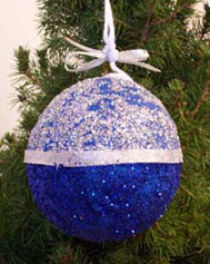 Papier-Mâché Ball Ornaments