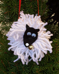 Yarn Sheep Ornament