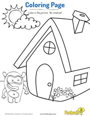 Home Sweet Home Coloring Page