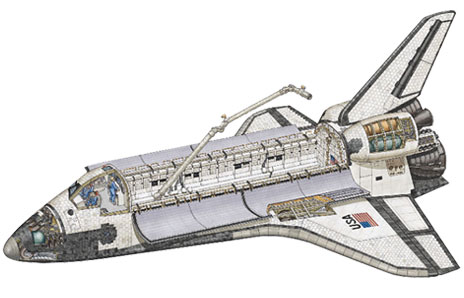 Space Shuttle Cross Section
