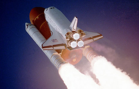 Space Shuttle Into Orbit