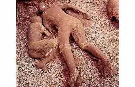 Casts of Bodies from Pompeii