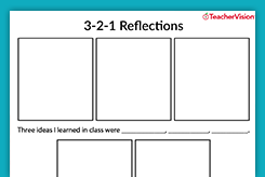 reflection worksheet