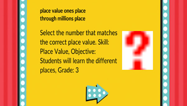 Millionaire Place Value Game Ones to Millions