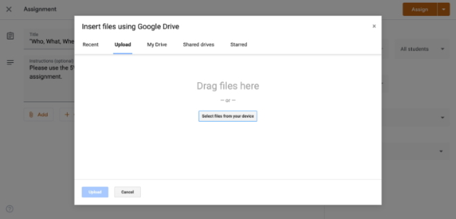 Adding a resource to Google Classroom 3