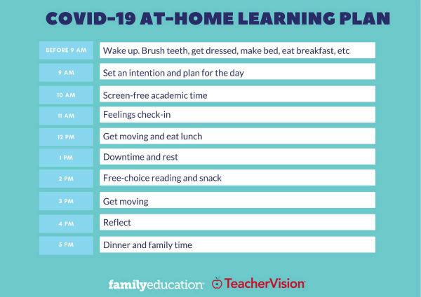 schedule for learning at home during covid-19 outbreak