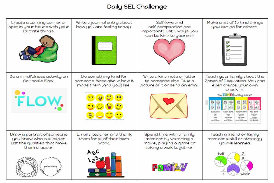 Daily SEL Challenge social emotional learning activities for kids