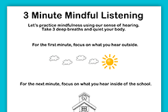 mindful listening graphic organizer