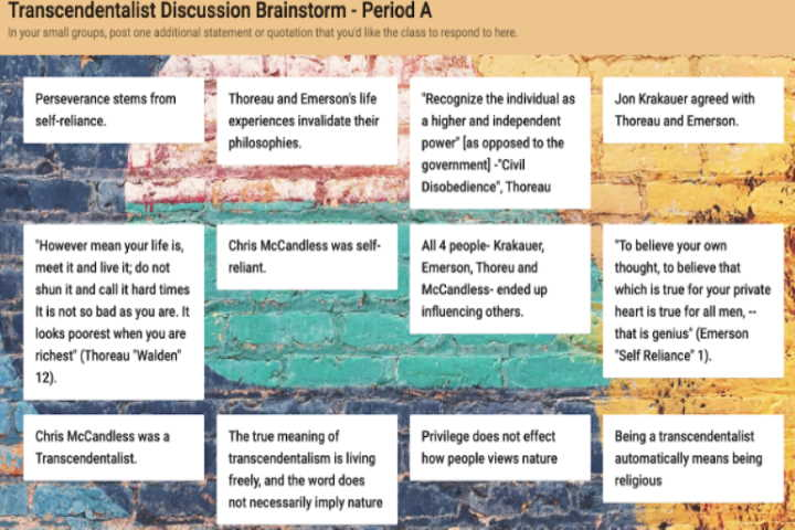 Padlet activity 1 group brainstorm