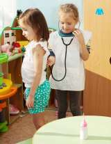 Children learning in centers in a classroom