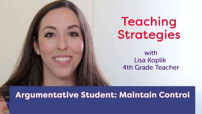 Argumentative Student: Maintain Control