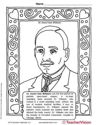 Dr. Daniel Hale Williams Coloring Page