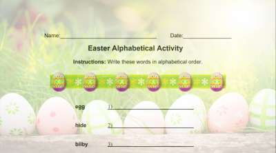 Easter Alphabet Activity