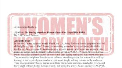 Fly Girls World War II Female Pilots Teaching Guide