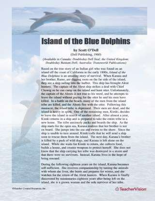 Island of the Blue Dolphins Activities - TeacherVision