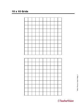 10 X 10 Grids Teachervision