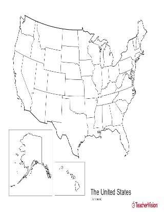 Map of North America - Geography Printable (Pre-K - 12th ...