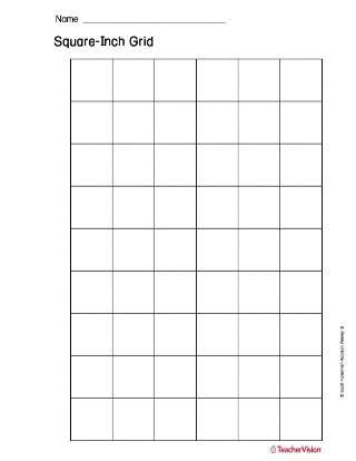 Square Inch Grid Printable for K-8 Math