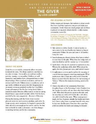 The Giver Teaching and Discussion Guide
