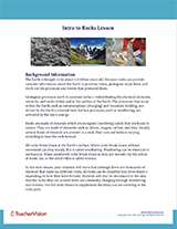 Intro to Rocks Background Information Cover Image