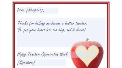 Teacher Appreciation Greeting Card: Teaching From the Heart
