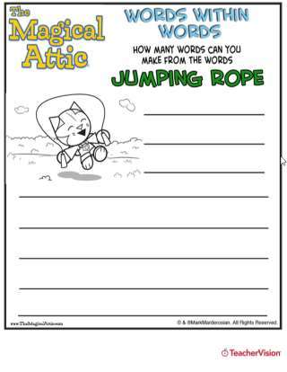 Magical Attic Crystal Cat Jumprope Word Puzzle