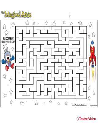 Magical Attic Looner Bunny Rocketship Maze