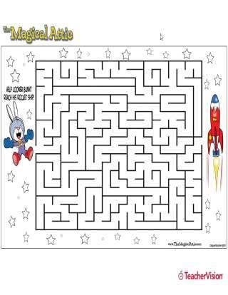 Magical Attic Looner Bunny Rocketship Maze