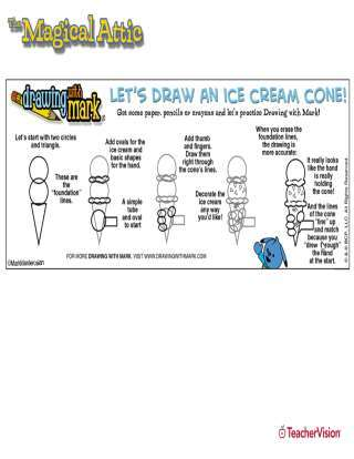 Learn to Draw Activity: Ice Cream Cone