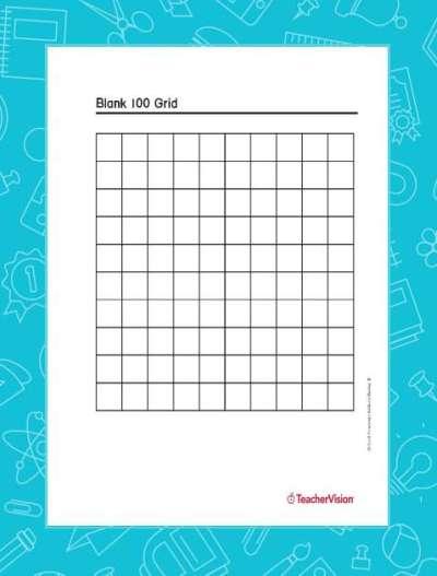 Blank 100-grid Graphic Organizer