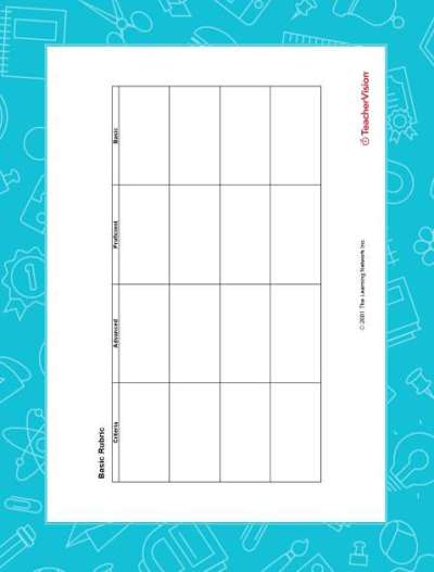 Blank Rubric for Multiple Uses