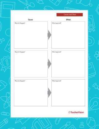 ELA Graphic Organizer Cause and Effect