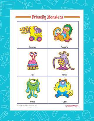 A Letter to a Friendly Monster Writing Activity