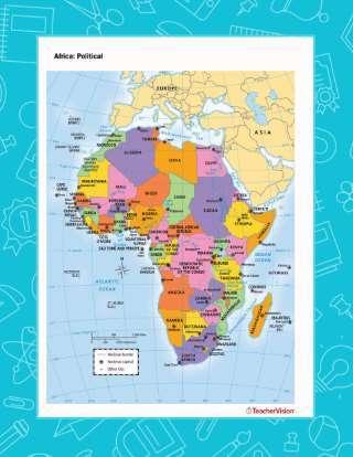 Political Map Of Africa Teachervision