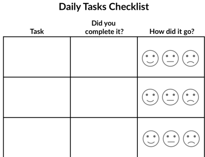 Daily Tasks Checklist Image