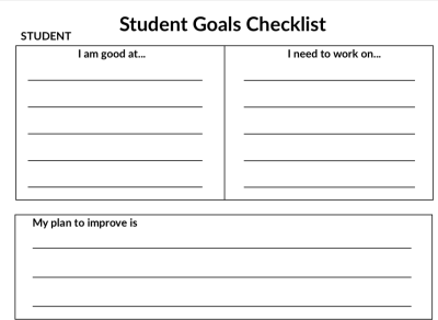 Student Goals Checklist Image