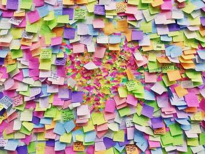 sticky notes to help teacher time management
