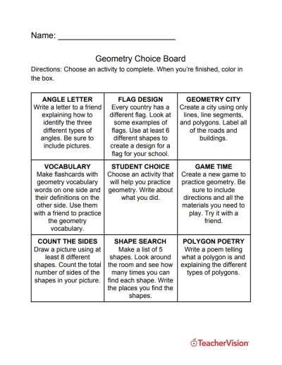 Nine Geometry Activities For Your Classroom