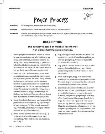 A conflict resolution activity for primary students