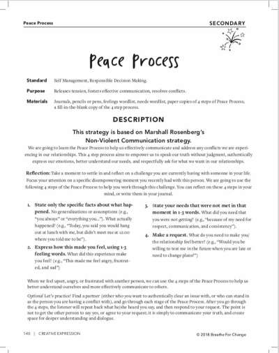 A conflict resolution activity for secondary students