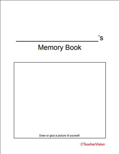 An end-of-the-year memory book activity for students