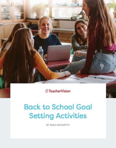 A themed packet of back to school goal setting activities