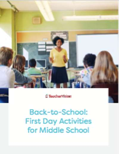 A First Day Of School Activities Packet For Middle School Students