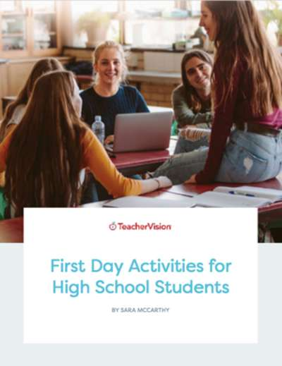 a back to school activities packet for high school students