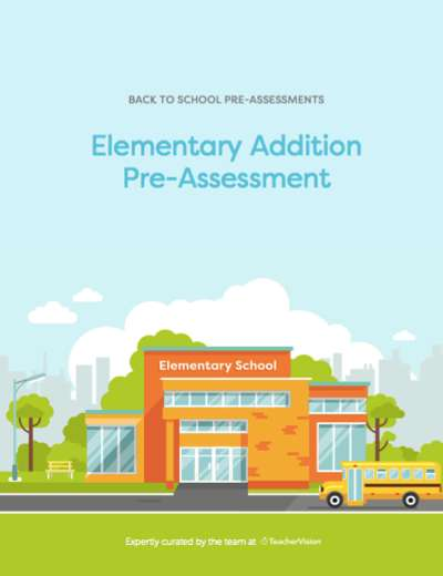 Elementary Addition Pre-Assessment